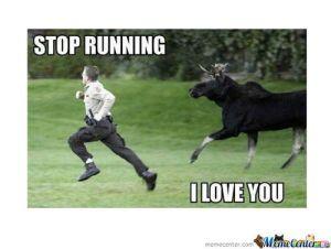 stop running